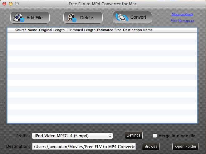 Convertir archivos flv a archivos mp4 en una Mac