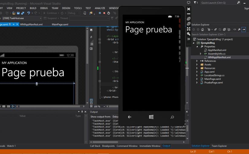 Cambiar la MainPage.xaml predeterminada por otra en una App Windows Phone 8