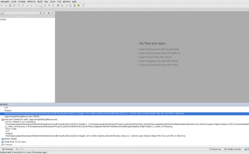 Error libz.so.1 en Android Studio y Debian/Ubuntu al abrir o ejecutar una app