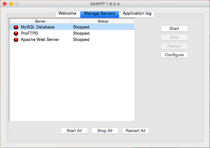 MySQL de XAMPP no arranca en Mac OS X Yosemite 10.10