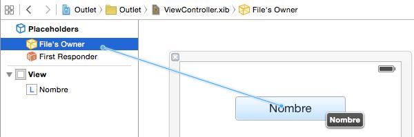 Cómo conectar manualmente una property IBOutlet de un ViewController a un XIB o Storyboard en Objective-C