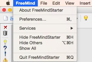 Cambiar el tipo de letra por defecto de FreeMind en Mac OS X