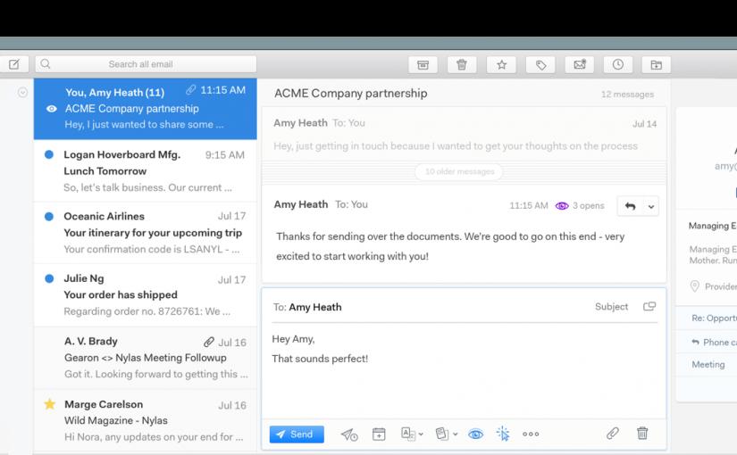 Mailspring: cliente de correo electrónico