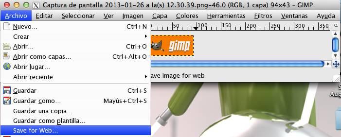 Optimizar imágenes para web con Gimp en Mac