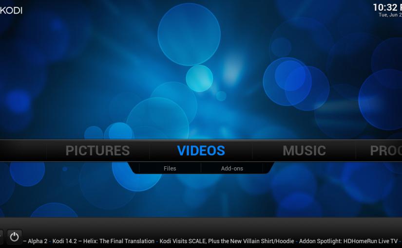 Centro multimedia de entretenimiento Kodi (antes XBMC)