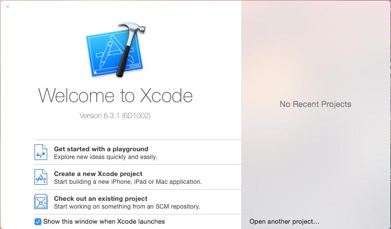 Crear un proyecto en Xcode 6 usando Xib en lugar de Storyboard con Objective-C