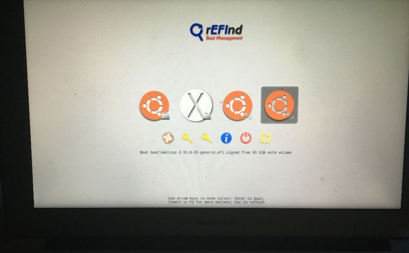 Instalación de Ubuntu Gnome en disco duro externo en una MacBook Air 11 pulgadas