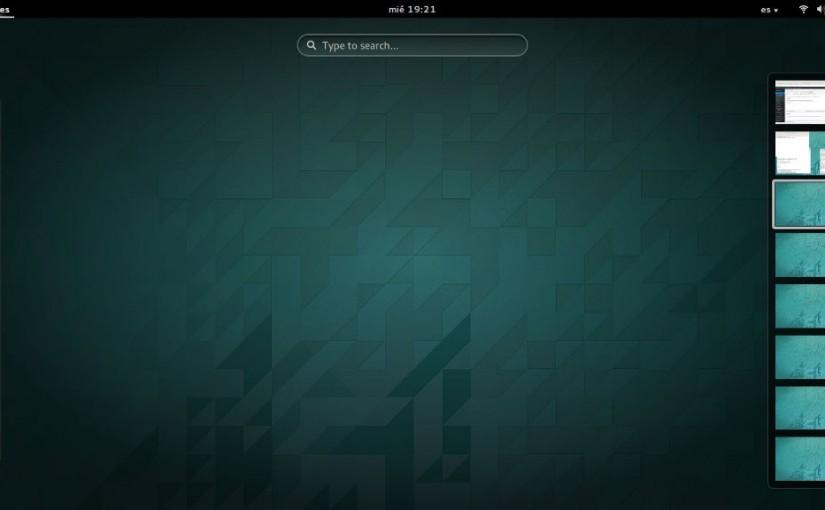 Creando y agregando escritorios (workspaces) fijos en Gnome 3